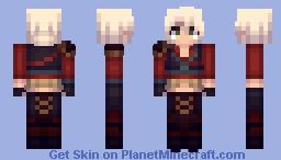 Ciri Alternate DLC - Witcher 3 Minecraft Skin