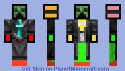 Cloaked Creeper Minecraft Skin