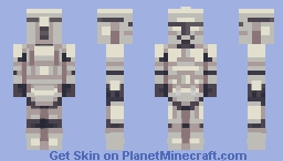clone trooper redo Minecraft Skin