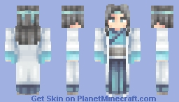 Cold white long-sleeve man (Chinese traditional style design) Minecraft Skin