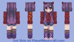 Art Collab w/ My Friend - 2nd Half Minecraft Skin