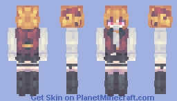 """「""""Farewell, My Dear"""" – I offer these words, so that I can move forward again」 Minecraft Skin"""