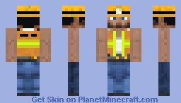 Construction Worker Minecraft Skin