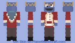Cookie monster x Technoblade Minecraft Skin