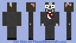 Cow in tux known from craftedmovie Minecraft Skin