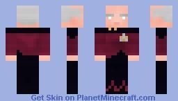 Captain Jean-Luc Picard | Star Trek TNG Minecraft Skin