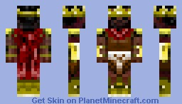 The Crafting King Minecraft Skin