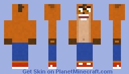 Crash Bandicoot Minecraft Skin