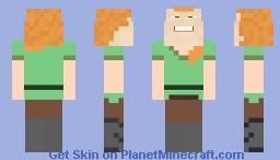 Big 'ol alex head Minecraft Skin