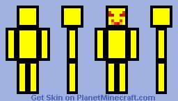 Crazy Mr.Yellow Minecraft Skin