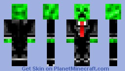 Creeper in a black suit Minecraft Skin
