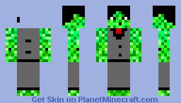 Creeper on Office Minecraft