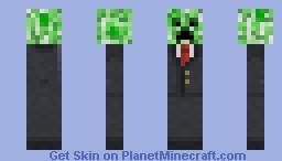 Suited Creeper Minecraft Skin