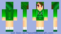 Creeper Girl w/Hoodie Minecraft Skin