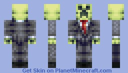 [EXPERIMENT] Creeper in a suit -,- . Minecraft