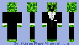 Happy Creeper in suit Minecraft Skin