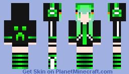 creep girl Minecraft Skin