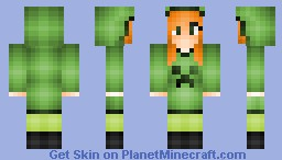 Creeper girl (Minecraft mob series celebration for 80 subs ^^) Minecraft Skin