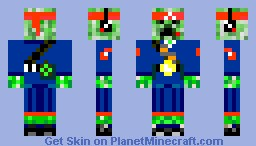 Creeper Marine Minecraft Skin