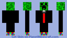 Tux creeper with awesome shoes! Minecraft Skin