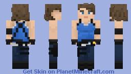 Resident Evil 3 Remake: Jill Valentine Default Costume Minecraft Skin