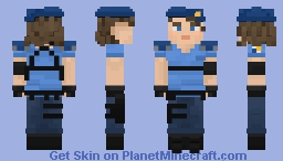 Resident Evil 3 Remake: Jill Valentine S.T.A.R.S Costume Minecraft Skin