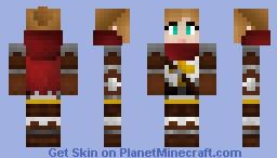 Crusader girl Minecraft Skin