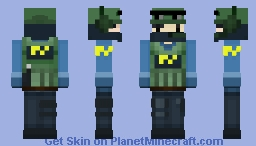CS:GO Counter-Terrorist Minecraft Skin