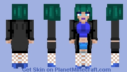 Why so blue?🍇 Minecraft Skin