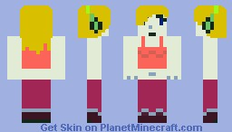 Curly Brace from Cave Story Minecraft Skin