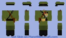 WWII Veteran, Artillery Officer Uniform Minecraft Skin