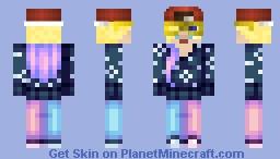 Ummm maybe a biker girl Minecraft Skin