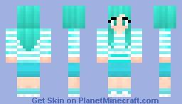 Blue gurl :3 Minecraft Skin