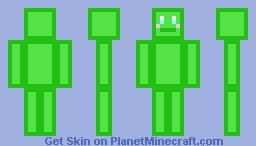 cute slime Minecraft Skin