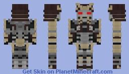 Cyborg Samurai Minecraft Skin