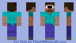 Cyclops Steve Minecraft Skin
