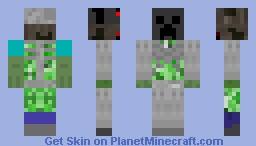 Creepers+Zombie+spiders+skeleton Minecraft Skin