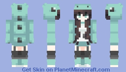Dino Girl Minecraft Skin