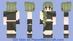 𝓼𝓪𝓮𝓭𝓮 𝓫𝓵𝓪𝓬𝓴𝔀𝓸𝓸𝓭 || wandering druid Minecraft Skin