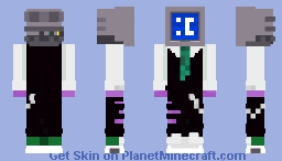 Blue screen of death Minecraft Skin