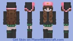 cute girl in a hat Minecraft Skin