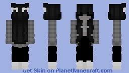 blue plaid- girl Minecraft Skin