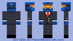 Fancy Blue Halo Spartan (RED TIE) Minecraft Skin