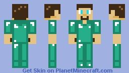 Diamond armor steve toy Minecraft Skin