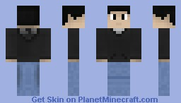 Normal Man (Black Eyes) Minecraft Skin