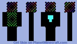 Rainbow darkness V2 Minecraft Skin