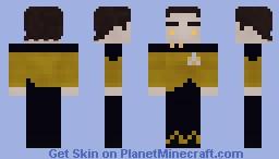 Lt. Cmdr Data | Star Trek TNG Minecraft Skin