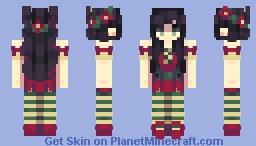Day 10: holly/poinsettia // 12 Days of Skinmas Minecraft Skin