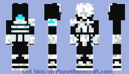 Detroit become human police officer Minecraft Skin