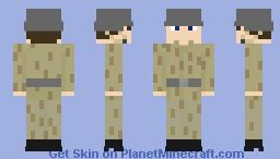 DDR soldier in camo uniform Minecraft Skin